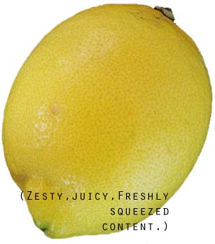 A picture of a lemon to show just how fresh and zesty our guest blog writers are