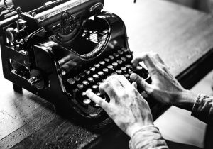 An old typewriter - how to write your website