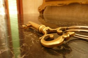 An old golden key - keywords are the 'key' to success